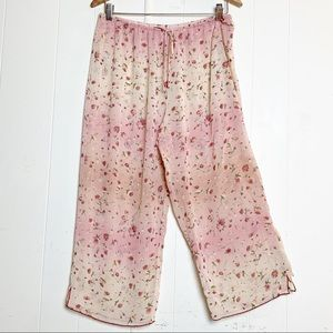 Natori Private Luxuries Pink Ombre Floral Lounging